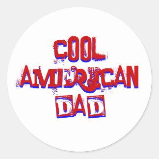 Cool American Dad Classic Round Sticker