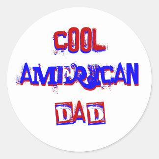 Cool American Dad I Classic Round Sticker