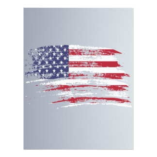 Cool American flag design Flyers