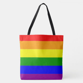 Cool and Classic Rainbow Flag Tote Bag