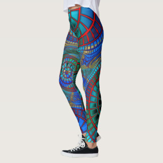 Cool and colorful fractal art on leggings