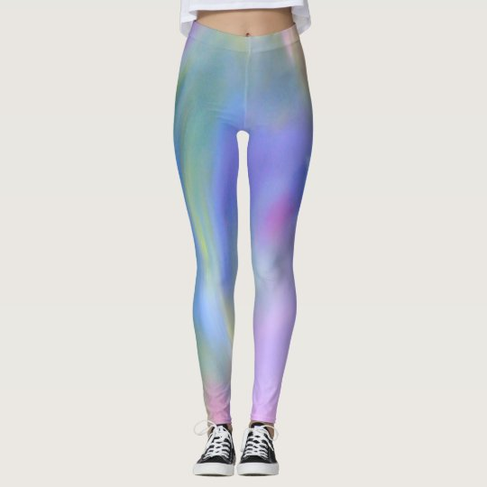 Cool and Comfy Unique Pastel Rainbow Leggings