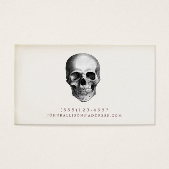Cool and Creepy Rustic Skull Calling Card