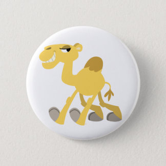 Cool and Cute Cartoon Camel Button Badge