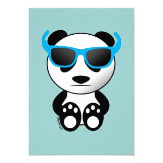 Cool and cute panda bear with sunglasses 13 cm x 18 cm invitation card