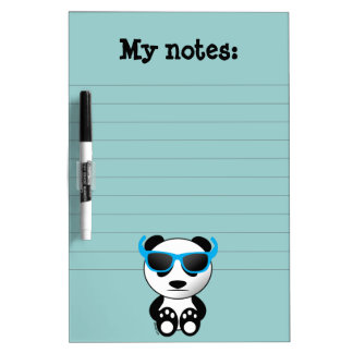Cool and cute panda bear with sunglasses dry erase board