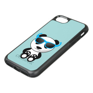 Cool and cute panda bear with sunglasses OtterBox symmetry iPhone 8/7 case