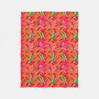 Cool and Elegant Abstract Fleece Blanket, Small