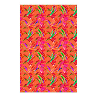 Cool and Elegant Abstract Orange Pink Stationery