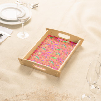 Cool and Elegant Abstract Serving Tray, Natural Serving Tray