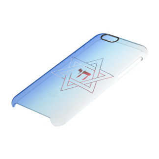 Cool and Elegant Star of David and Chai iPhone 6 Plus Case
