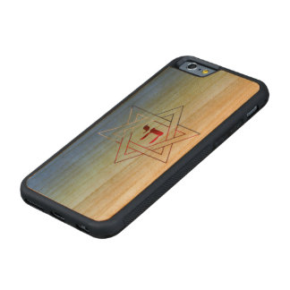 Cool and Elegant Star of David and Chai Carved® Cherry iPhone 6 Bumper Case