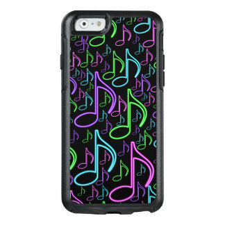 Cool and Fun Bright Neon Music Note Pattern OtterBox iPhone 6/6s Case