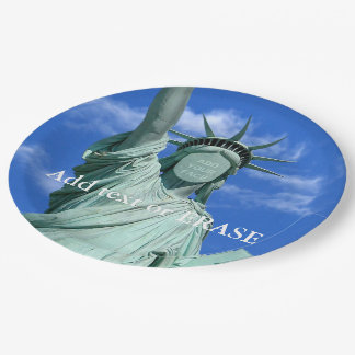 Cool and fun customizable Statue of Liberty… 9 Inch Paper Plate