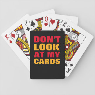cool and funny typography poker deck