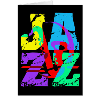 Cool and hip Jazz Greeting Card