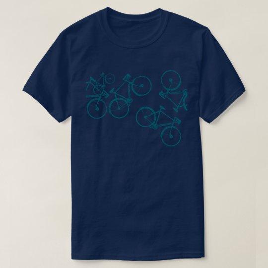cool and modern biking blue T-Shirt