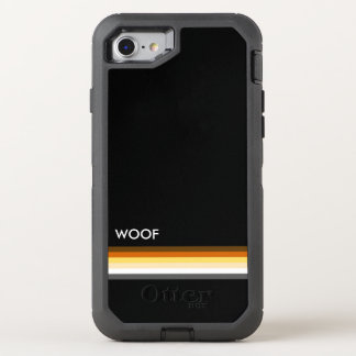 Cool and Modern Gay Bears Pride Flag WOOF OtterBox Defender iPhone 8/7 Case
