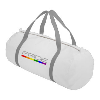 Cool and Modern Pride and Gay Pride Colors Gym Duffel Bag