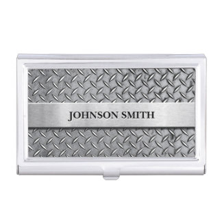Cool and Stylish Diamond Metal Plate Business Card Holder