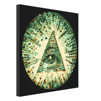 Cool and Unique Camouflage Illuminati Canvas Print