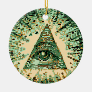 Cool and Unique Camouflage Illuminati Christmas Ornament