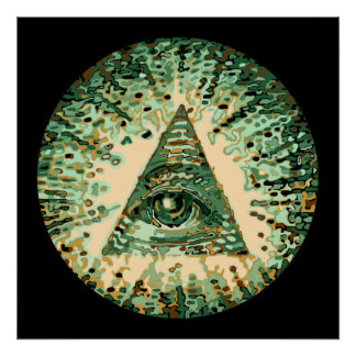 Cool and Unique Camouflage Illuminati Poster