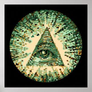 Cool and Unique Camouflage Illuminati Poster