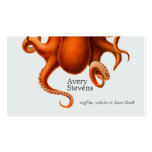 Cool and Unique Octopus Marine Biology Nautical Business Cards