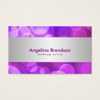 Cool and Unique White Confetti Makeup Artist Business Card