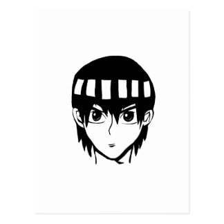 Cool anime character bro! postcard
