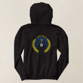 Cool Anonymous Logo Symbol Large embroidery Embroidered Hoodie