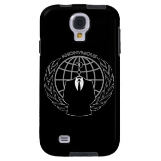 Cool Anonymous Logotype on Solid Black Galaxy S4 Case