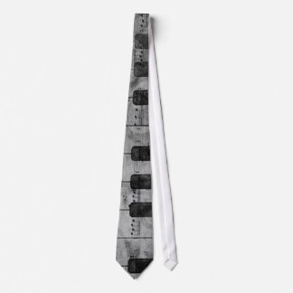 Cool antique grunge effect piano music notes tie