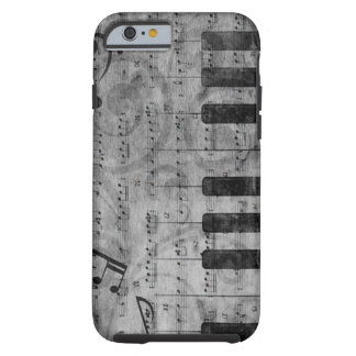 Cool antique grunge effect piano music notes tough iPhone 6 case