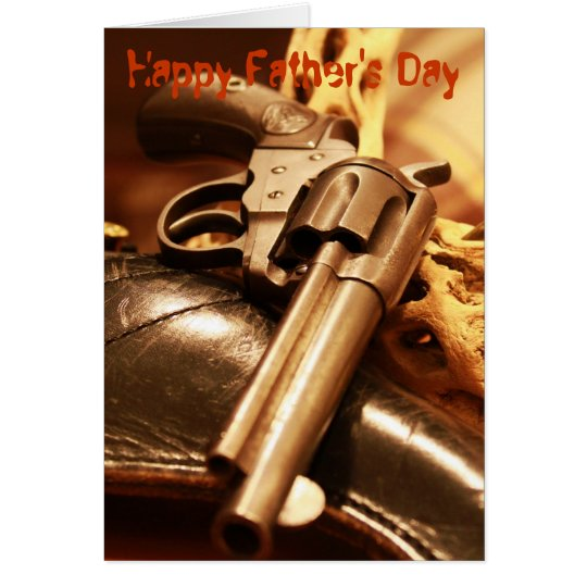 Cool antique gun Happy Father's Day card