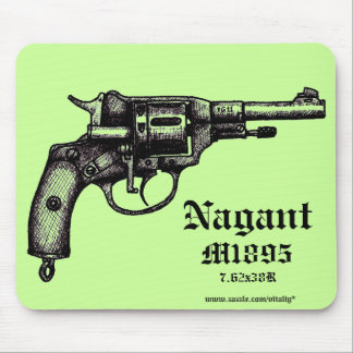 Cool antique Nagant revolver graphic mousepad