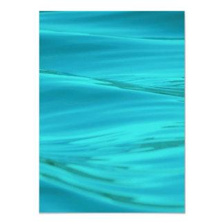 Cool Aqua Blue Summer Water Ripples 11 Cm X 16 Cm Invitation Card