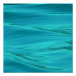 Cool Aqua Blue Summer Water Ripples Poster