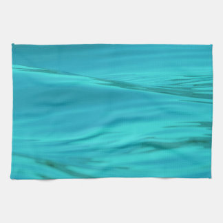 Cool Aqua Blue Summer Water Ripples Tea Towel