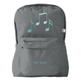 Cool Aqua Music Notes Backpack