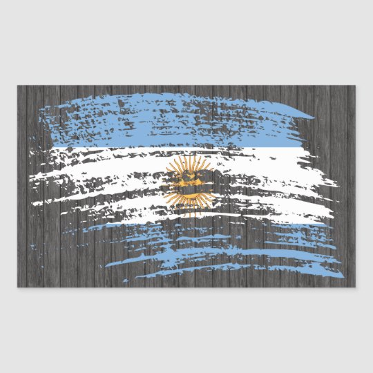 Cool Argentinean flag design Rectangular Sticker