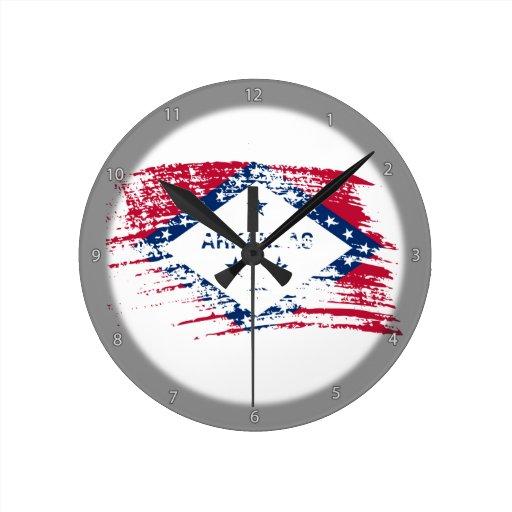 Cool Arkansan flag design Wallclock