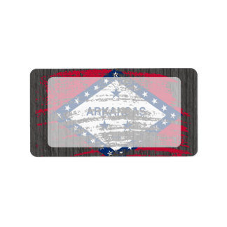 Cool Arkansan flag design Address Label