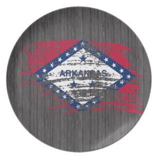 Cool Arkansan flag design Dinner Plate