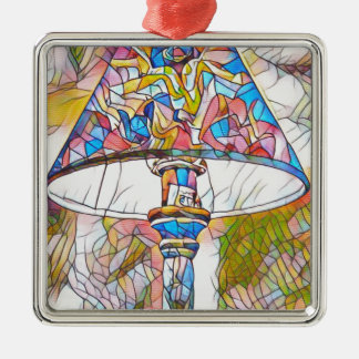 Cool Artistic Stained Glass Lamp Shade Christmas Ornament