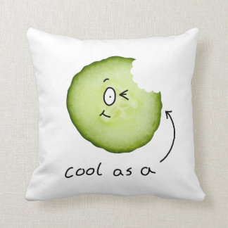 Cool as a cucumber character pillow throw cushions