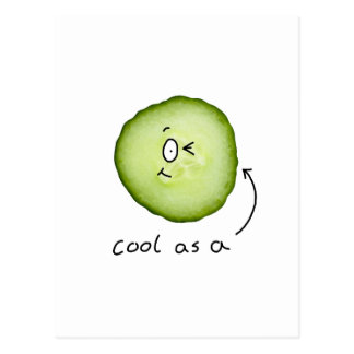 cool as a cucumber postcard