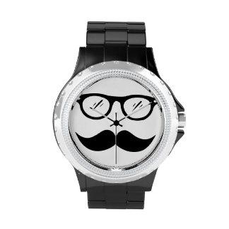 Cool as a mustache wristwatch