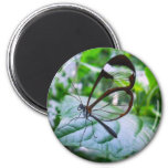 cool as glass 6 cm round magnet